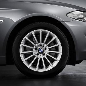 BMW Alufelge Radialspeiche 237 8J x 18 ET 30 Silber Vorderachse / Hinterachse BMW 6er F06 F12 F13 5er F10 F11