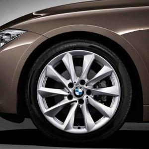 BMW Winterkompletträder Turbinenstyling 415 silber 18 Zoll 3er F30 F31 4er F32 F33 F36 RDCi