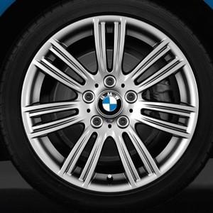 BMW Alufelge M Sternspeiche 383 8J x 17 ET 53 silber Hinterachse BMW 1er F20 F21 2er F22 F23