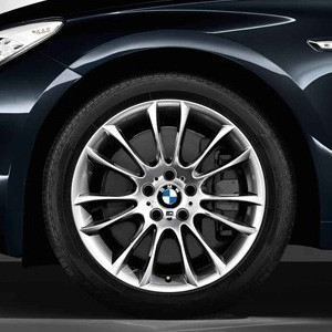 BMW Alufelge M V-Speiche 302 8,5J x 19 ET 25 Silber Vorderachse BMW 7er F01 F02 F04 5er F07