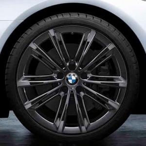 BMW Alufelge M V-Speiche 464 8,5J x 20 ET 33 Liquid Black Vorderachse BMW 5er F10 F11  6er F06 F12 F13