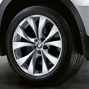 BMW Alufelge M V-Speiche 227 11J x 20 ET 35 Silber Hinterachse BMW X5 E70