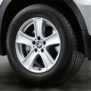 BMW Alufelge Sternspeiche 209 8,5J x 18 ET 46 Silber Vorderachse / Hinterachse BMW X5 E70