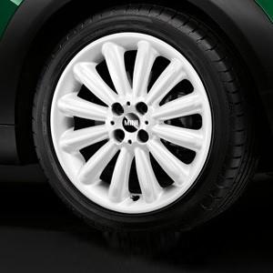 MINI Alufelge Indinite Stream Spoke 116 7J x 17 ET 48 Weiß Vorderachse / Hinterachse MINI Clubman R55 MINI R56 MINI Cabrio R57 MINI Coupe R58 MINI Roadster R59