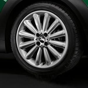 MINI Alufelge Infinite Stream Spoke R116 7J x 17 ET 48 Silber Vorderachse / Hinterachse MINI Clubman R55 MINI R56 MINI Cabrio R57 MINI Coupe R58 MINI Roadster R59