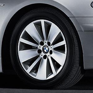 BMW Alufelge Doppelspeiche 174 8J x 18 ET 24 Silber Vorderachse / Hinterachse BMW 7er E65 E66 E68