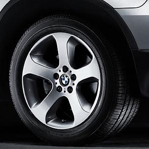 BMW Alufelge Sternspeiche 132 9J x 19 ET 48 Silber Vorderachse BMW X5 E53
