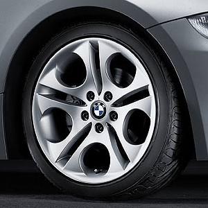 BMW Alufelge Ellipsoidstyling 107 8,5J x 18 ET 50 Silber Hinterachse BMW Z4 E85 E86
