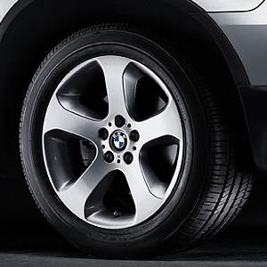 BMW Alufelge Sternspeiche 87 9,5J x 20 ET 45 Silber Vorderachse BMW X5 E53