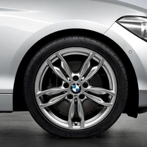 BMW Alufelge M Doppelspeiche 436 8J x 18 ET 52 ferricgrey Hinterachse BMW 1er F20 F21 2er F22 F23