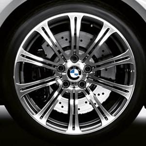 BMW Alufelge M Doppelspeiche 220 geschmiedet 9,5J x 19 ET 23 Silber Hinterachse BMW 3er E90 E92 E93