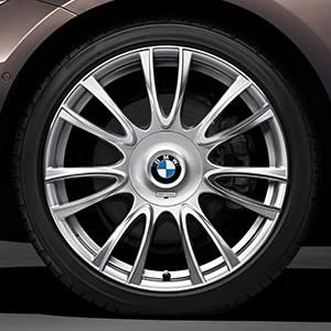 BMW Alufelge Individual V-Speiche 439 8,5J x 19 ET 47 Silber Hinterachse BMW 3er F30 F31 4er F32 F33 F36