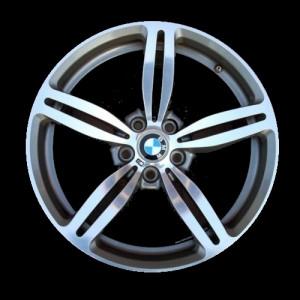BMW Alufelge M Doppelspeiche 167 9,5J x 19 ET 17 Silber Hinterachse BMW 5er E60 E61 6er E63 E64