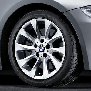 BMW Alufelge Turbinenstyling 201 8J x 17 ET 46 Silber Vorderachse / Hinterachse BMW Z4 E85 E86