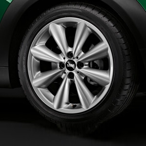 MINI Alufelge Conical Spoke 121 7J x 17 ET 48 Silber Vorderachse / Hinterachse MINI Clubman R55 MINI R56 MINI Cabrio R57 MINI Coupe R58 MINI Roadster R59