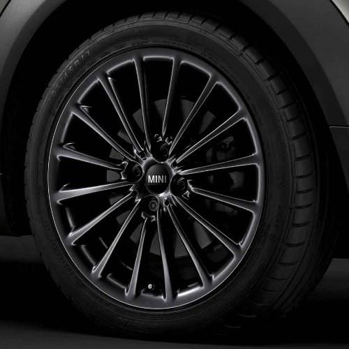 MINI Alufelge Multi-Spoke 108 7J x 17 ET 48 Schwarz Vorderachse / Hinterachse MINI R50 MINI Cabrio R52 R57 MINI R53 R56 MINI Clubman R55 MINI Coupe R58 MINI Roadster R59