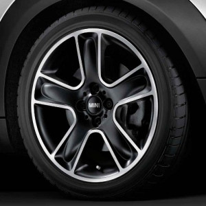MINI Alufelge Black Star Bullet 111 7J x 17 ET 48 Schwarz Vorderachse / Hinterachse MINI Clubman R55 MINI R56 MINI Cabrio R57 MINI Coupe R58 MINI Roadster R59