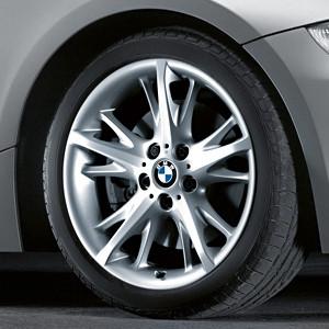 BMW Alufelge Sternspeiche 241 8,5J x 18 ET 50 Silber Hinterachse BMW Z4 E85 E86