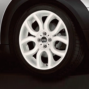 MINI Alufelge Flame Spoke 97 7J x 17 ET 48 Weiß Vorderachse / Hinterachse MINI R50 MINI Cabrio R52 R57 MINI R53 R56 MINI Clubman R55 MINI Coupe R58 MINI Roadster R59