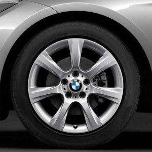 BMW Winterkompletträder Sternspeiche 396 silber 18 Zoll 3er F34 GT