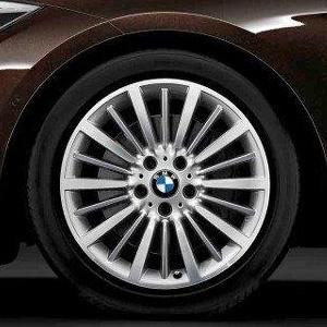 BMW Kompletträder Vielspeiche 416 bicolor (silber / glanzgedreht) 18 Zoll 3er F34 GT RDCi