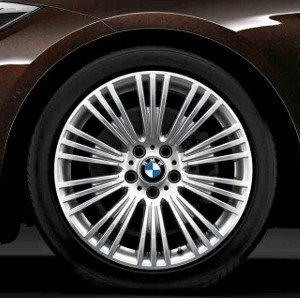 BMW Alufelge W-Speiche 440 9J x 19 ET 42 Bicolor (Spacegrau / glanzgedreht) Hinterachse BMW 3er F34 GT