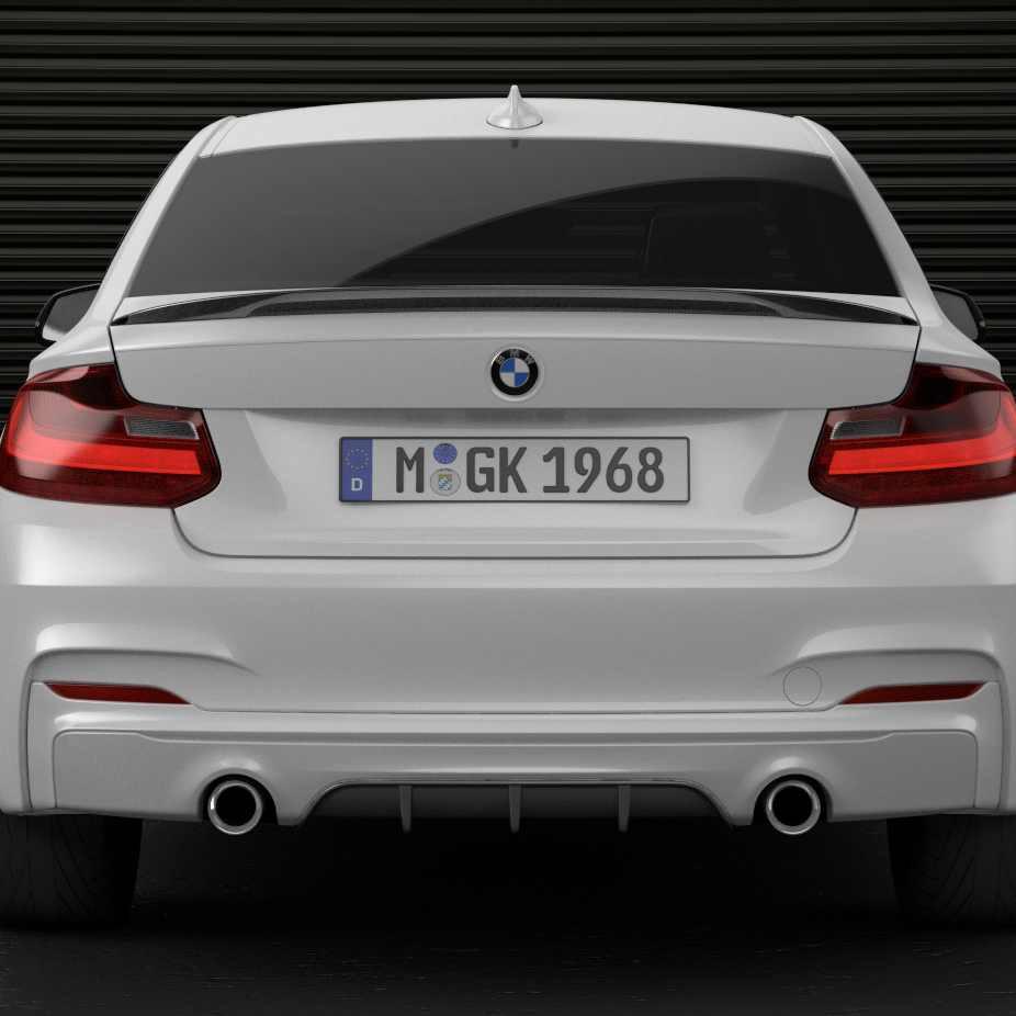 BMW M Performance Heckdiffusor schwarz matt 2er F22 F23