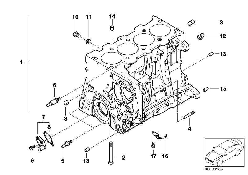 Zylinder-Kurbelgehäuse mit Kolben  1er 3er  (11110399661)