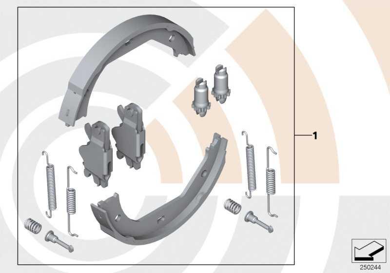 Service Kit Reparatursatz Bremsbacken VALUE LINE 5er  (34212213313)