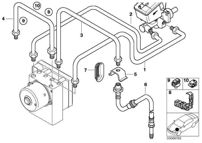 Halter Bremsleitung 4 fach  3er  (34301165471)