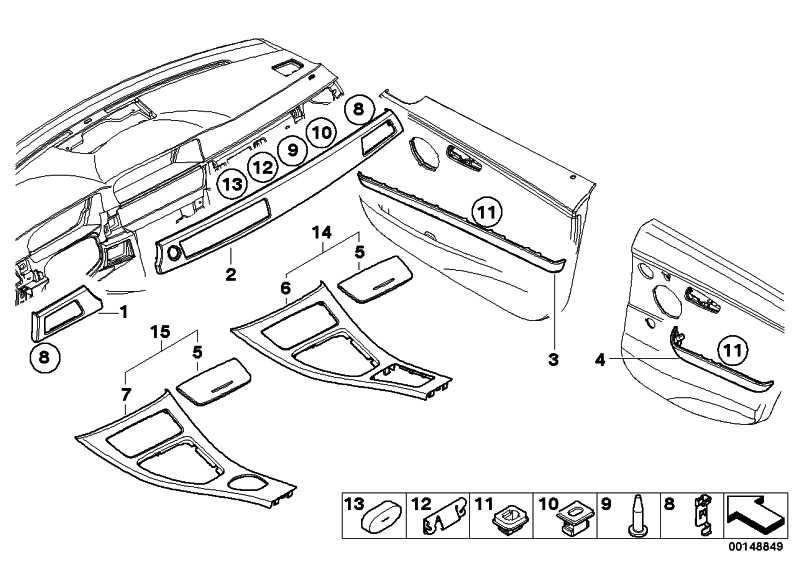 Blende I-Tafel Aluminium links ALU FEINSCHLIFF 3er  (51459147390)