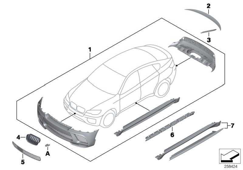 Performance Aerodynamik-Paket lackiert CODE UNI/MET.   X6  (51192162474)