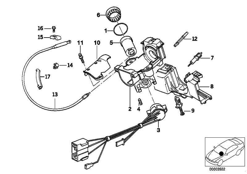 Schliesszylinder mit Schlüssel  3er 5er 7er 8er Z1  (32321156757)