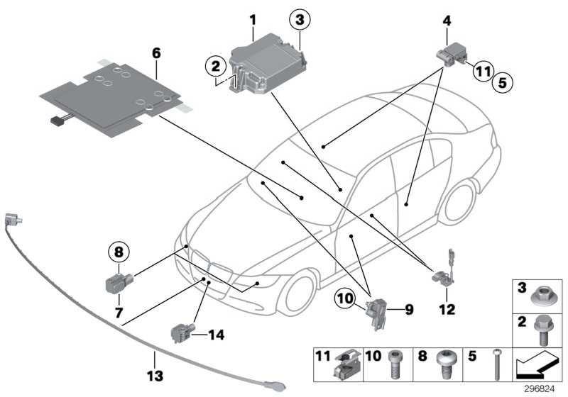 Sensormatte Beifahrersitzerkennung  1er 3er  (65779153119)