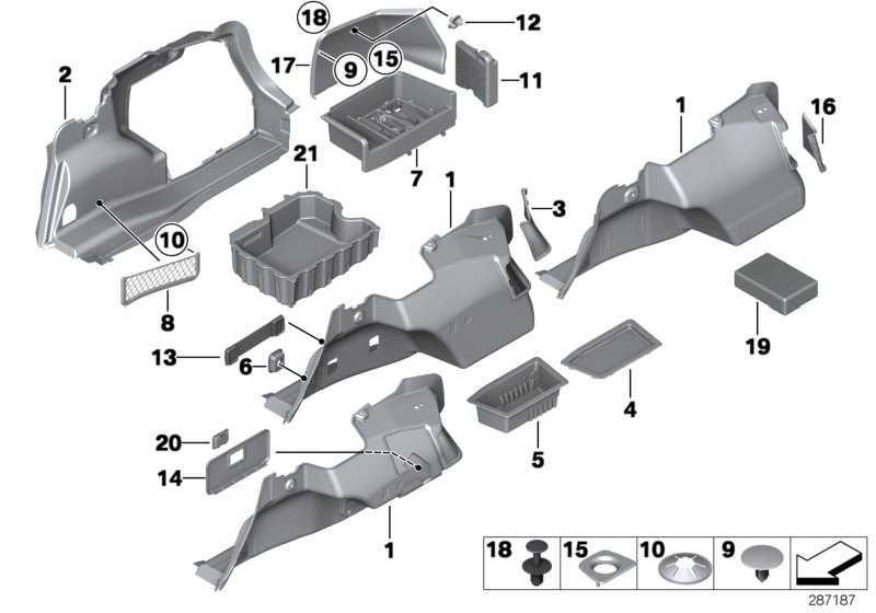 Verkleidung Gepäckraum rechts  3er  (51477139438)