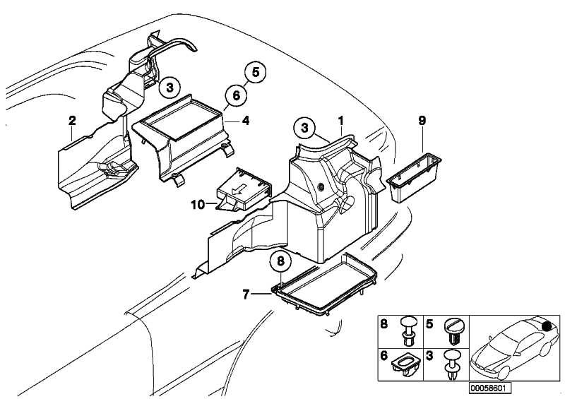 Ablageschale Gepäckraum links  3er  (51478204089)