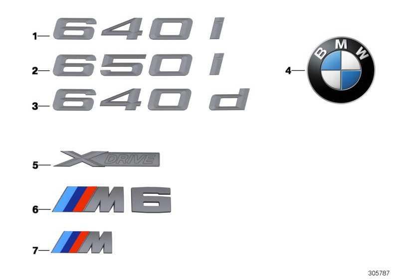 Schriftzug - M6 -          6er  (51148060405)
