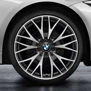 BMW Alufelge Kreuzspeiche 404 8,5J x 20 ET 47 bicolor (schwarz / glanzgedreht) Hinterachse BMW 3er F30 F31 4er F32 F33 F36