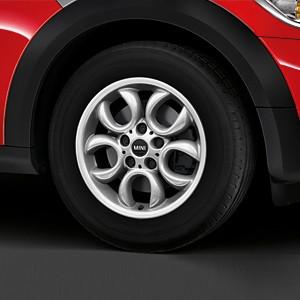 MINI Alufelge 5 Hole Circular Spoke R123 6,5J x 16 ET 46 Silber Vorderachse / Hinterachse BMW MINI Countryman R60 Paceman R61