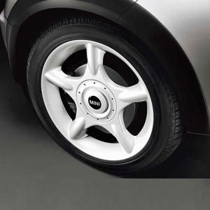 MINI Alufelge 5 Star 83 6,5J x 16 ET 48 Weiß Vorderachse / Hinterachse MINI R50 MINI Cabrio R52 MINI R53