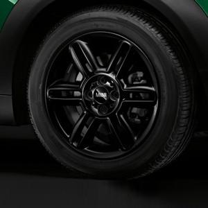 MINI Alufelge 6 Star Twin Spoke R119 6,5J x 16 ET 48 Schwarz matt Vorderachse / Hinterachse MINI Clubman R55 MINI R56 MINI Cabrio R57 MINI Coupe R58 MINI Roadster R59