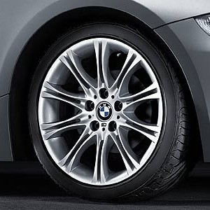 BMW Alufelge M Doppelspeiche 135 silber 8,5J x 18 ET 50 Hinterachse 3er E46 Z4 E85 E86