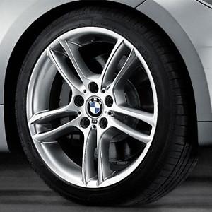 BMW Alufelge M Doppelspeiche 261 7,5J x 18 ET 49 Silber Vorderachse BMW 1er E81 E82 E87 E88