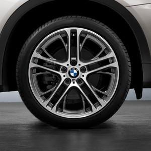 BMW Kompletträder M Performance Doppelspeiche 310 bicolor (ferricgrey glanzgedreht) 21 Zoll X5 F15 X6 F16 RDCi
