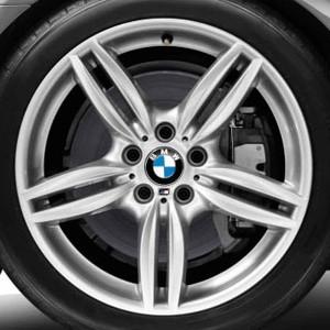 BMW Alufelge M Doppelspeiche 351 9J x 19 ET 44 Silber Hinterachse BMW 6er F06 F12 F13 5er F10