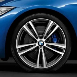 BMW Alufelge M Doppelspeiche 442 Orbitgrey 8,5J x 19 ET 47 Hinterachse BMW 3er F30, F31, 4er F32, F33, F36