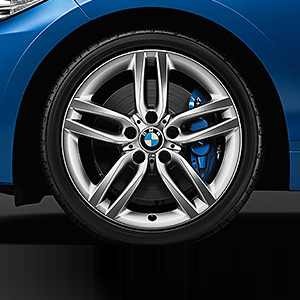 BMW Alufelge M Doppelspeiche 461 silber 8J x 18 ET 52 Hinterachse 1er F20 F21 2er F22 F23