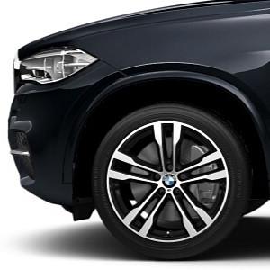 BMW Winterkompletträder M Doppelspeiche 468 bicolor (orbitgrey / glanzgedreht) 20 Zoll X5 F15 X6 F16 RDCi