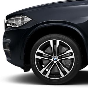 BMW Alufelge M Doppelspeiche 468 bicolor (orbitgrey/glanzgedreht) 11J x 20 ET 37 Hinterachse X5 F15 X6 F16