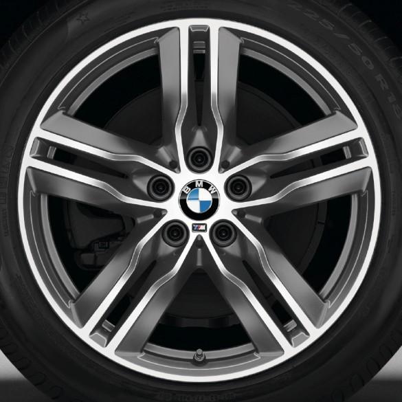 BMW Alufelge M Doppelspeiche 570 bicolor (ferricgrey / glanzgedreht) 7,5 J x 18 ET 52 Vorderachse / Hinterachse X1 F48
